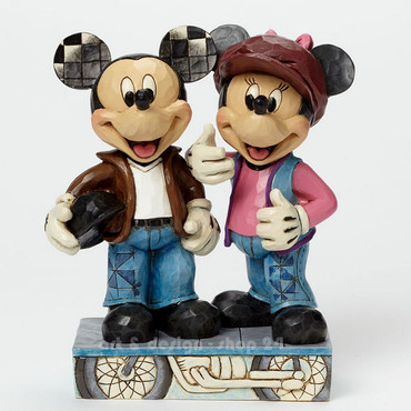 "DISNEY - Skulptur - ""MICKEY & MINNIE BIKER"" - Jim Shore Figur  4043652 NEU !! – Bild 3"