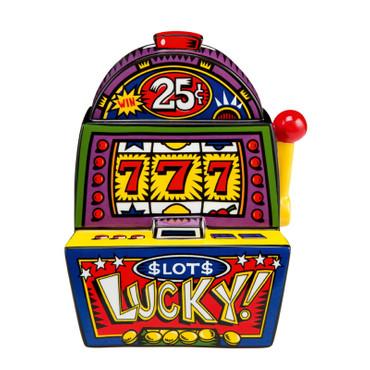 """BURTON MORRIS - POP ART Skulptur aus USA - """"Jackpot !"""" Spardose Porzellan NEU !!"""