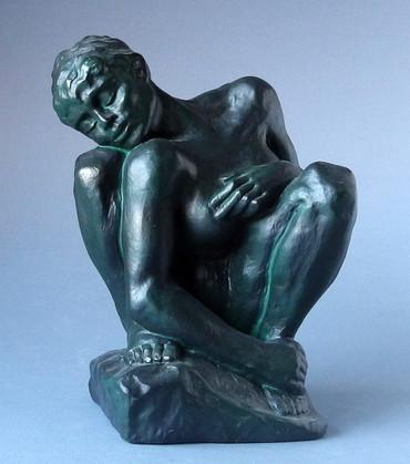 La femme accroupie -L- AUGUSTE RODIN Skulptur RO08