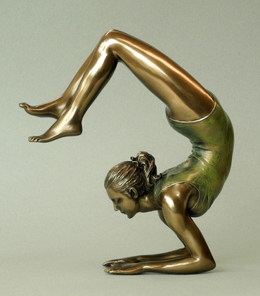 "BODY TALK 76115 YOGA-Skulptur - Figur ""Vrischikasana - Scorpion Pose"" H 14.00 cm"
