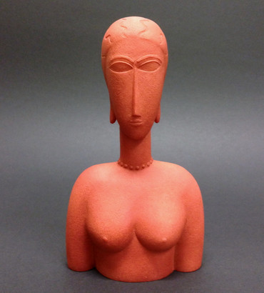 Grand buste rouge AMADEO MODIGLIANI Figur MO14