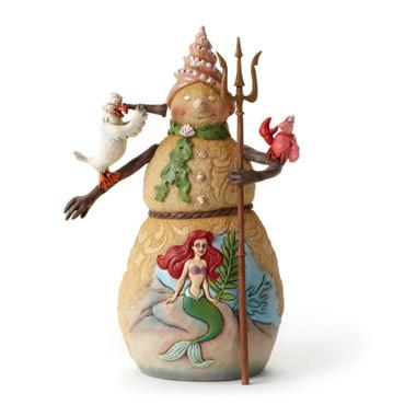 "DISNEY Skulptur ""SNOWMAN WITH ARIELLE SCENE"" Jim Shore Figur 4046021 - NEU !! – Bild 3"