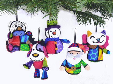 ORNAMENTS 5er Set Plush Romero Britto