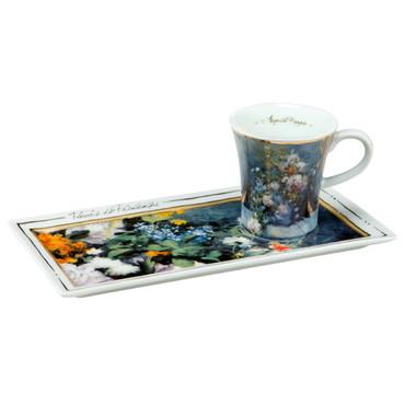 """GOEBEL PORZELLAN - Kunst & Kaffee Espresso """"Renoir - Frühlingsblumen"""" NEU"""
