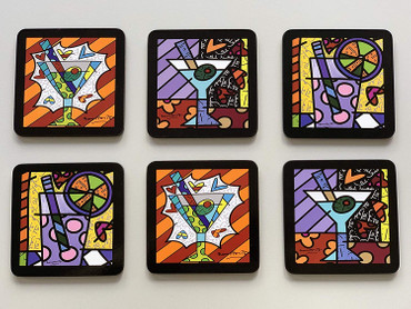 COASTERS Set of 6 Romero Britto  – Bild 2