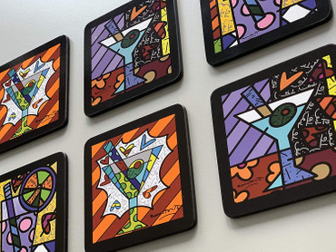 COASTERS Set of 6 Romero Britto  – Bild 3