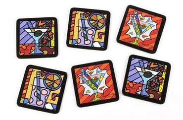 COASTERS Set of 6 Romero Britto  – Bild 1