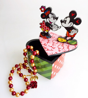 MICKEY & MINNIE LIDDED BOX Romero Britto