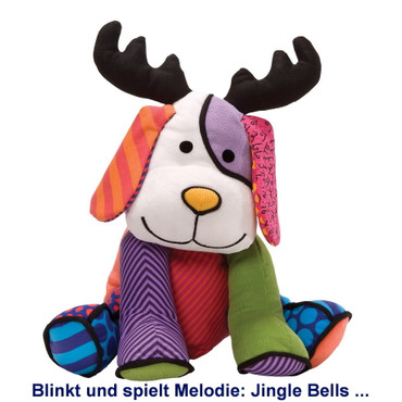 MUSICAL REINDOG with light Romero Britto  – Bild 1