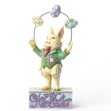 EASTER IS IN THE AIR - HAPPY EASTER JUGGLING BUNNY Figur Heartwood Creek