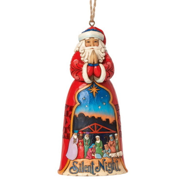 Heartwood Creek – Hanging Ornament – Silent Night Santa – Bild 1