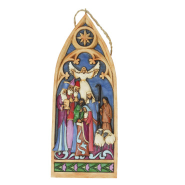 Heartwood Creek – Hanging Ornament – Cathedral Window Nativity
