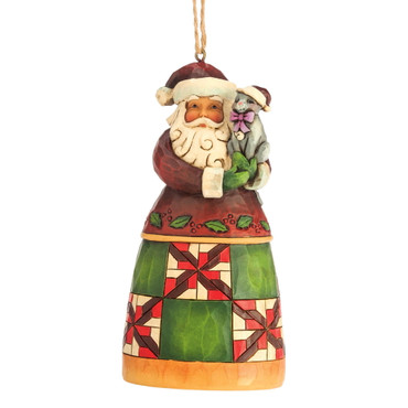 Heartwood Creek – Hanging Ornament – Santa with Cat – Bild 1