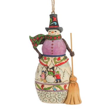 Heartwood Creek – Hanging Ornament – Winter Scene Snowman – Bild 1