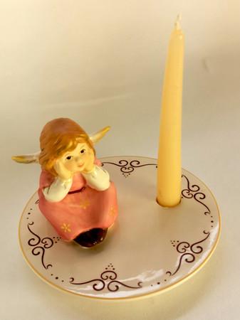 VERTRÄUMT Kerzenhalter Goebel Weihnacht  – Bild 2
