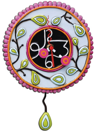 ALLEN DESIGNS by Enesco – Moon Cake Pink Clock