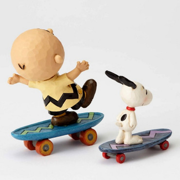 Skateboarding Buddies - THE PEANUTS Skulptur 4054080  – Bild 2
