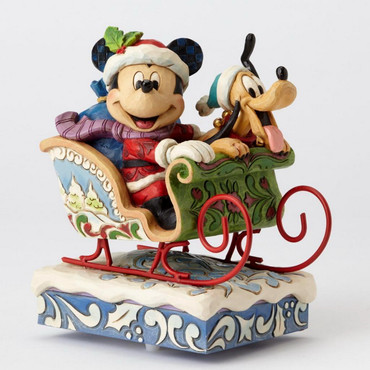 "ENESCO DISNEY CHRISTMAS DEKORATION ""MICKEY & PLUTO"" Jim Shore Spieluhr 4052003 – Bild 1"