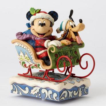 "ENESCO DISNEY CHRISTMAS DEKORATION ""MICKEY & PLUTO"" Jim Shore Spieluhr 4052003 – Bild 1"