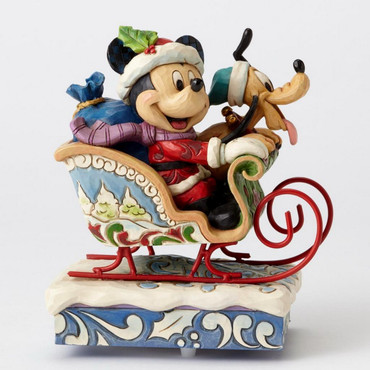 "ENESCO DISNEY CHRISTMAS DEKORATION ""MICKEY & PLUTO"" Jim Shore Spieluhr 4052003 – Bild 2"