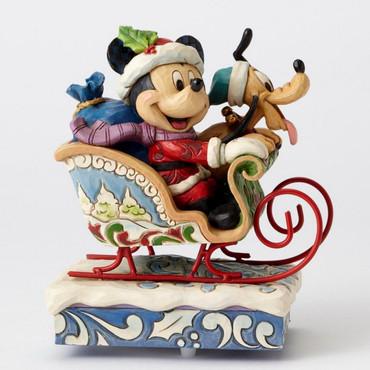"ENESCO DISNEY CHRISTMAS DEKORATION ""MICKEY & PLUTO"" Jim Shore Spieluhr 4052003 – Bild 2"