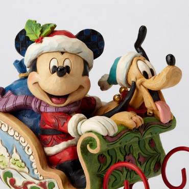 "ENESCO DISNEY CHRISTMAS DEKORATION ""MICKEY & PLUTO"" Jim Shore Spieluhr 4052003 – Bild 4"