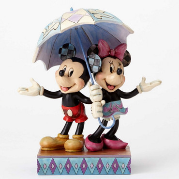 "ENESCO DISNEY Skulptur ""MICKEY & MINNIE MOUSE - Rainy Day Romance"" Jim Shore Figur 4054280 – Bild 1"