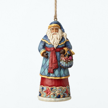 CHRISTMAS Hanging Ornament - SANTA WITH BASKET - Jim Shore Figur 4053831