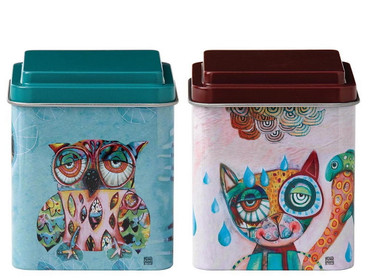 Cat and Owl - Storage Tin Set - D119 – Bild 1