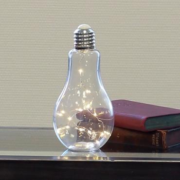 Dekoleuchte Glühbirne - Glas klar - 31962