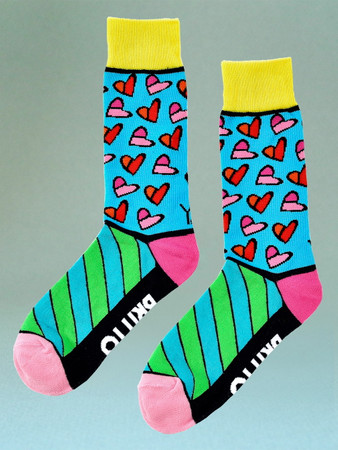"ROMERO BRITTO ""Hearts"" Herrensocken"