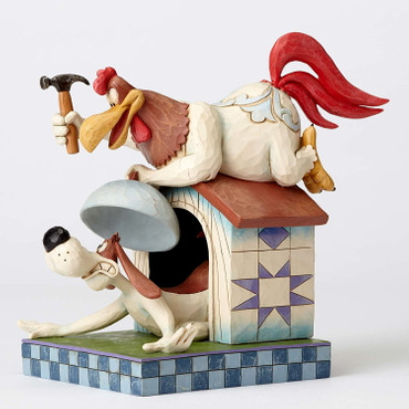 LOONEY TUNES Skulptur by Jim Shore - Foghorn Leghorn and Dawg  – Bild 3