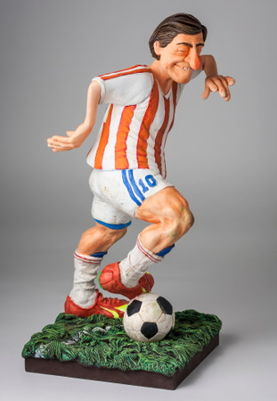 COMIC ART SCULPTUR - The Soccer Player - Fußballspieler – Bild 1