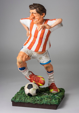 COMIC ART SCULPTUR - The Soccer Player - Fußballspieler – Bild 5