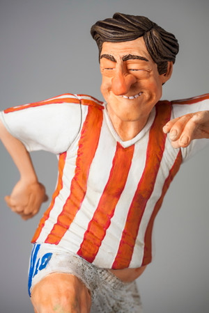 COMIC ART SCULPTUR - The Soccer Player - Fußballspieler – Bild 2