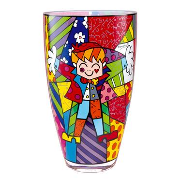 HUG TOO Vase Glas Romero Britto
