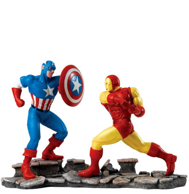 "MARVEL Superhelden Kampfszene ""Captain America vs. Iron Man"""