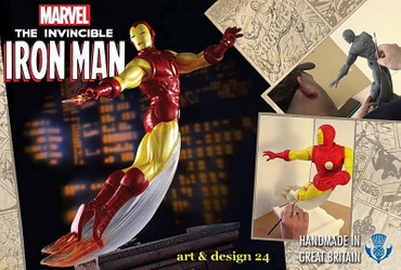 "MARVEL Superhelden Skulptur ""IRON MAN"" limited Edition – Bild 4"