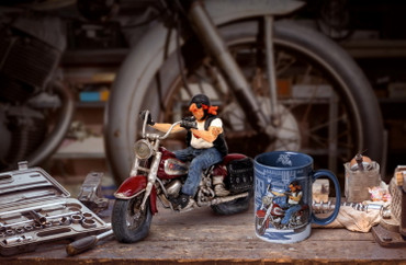 FORCHINO COMIC ART BECHER - The Motorbike – Bild 4