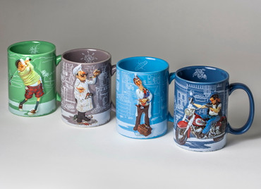 FORCHINO COMIC ART BECHER - TASSE - The Golfer – Bild 9