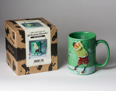 FORCHINO COMIC ART BECHER - TASSE - The Golfer – Bild 3