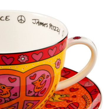 THE SPIRIT OF PEACE Cappuccino Set James Rizzi – Bild 2