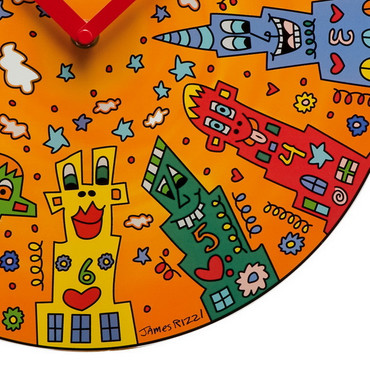 "JAMES RIZZI POP ART - Goebel Porzellan - Wanduhr ""City Sunset"" – Bild 2"
