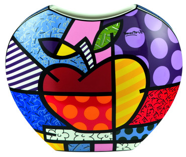 BIG APPLE Vase Romero Britto – Bild 1