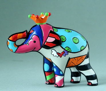 "ROMERO BRITTO ""Royalty - Mini Elefant"" Miami Pop Art Figur"