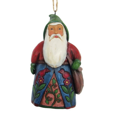 "ENESCO DISNEY CHRISTMAS Hanging Ornament ""Folklore Santa With Bag"" Jim Shore Figur 4058771 – Bild 1"