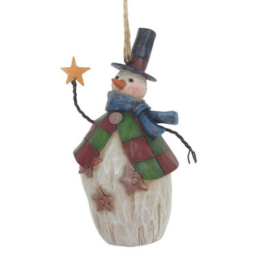 "ENESCO CHRISTMAS DEKORATION - ""Folklore Snowman"" - Jim Shore Hanging Ornament – Bild 2"