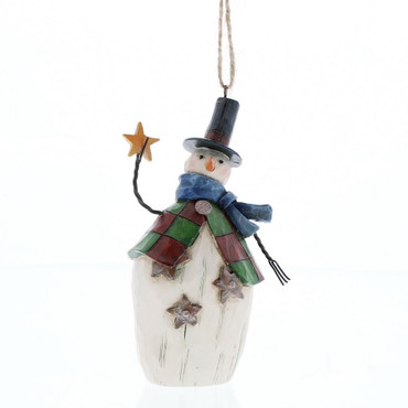 "ENESCO CHRISTMAS DEKORATION - ""Folklore Snowman"" - Jim Shore Hanging Ornament – Bild 1"