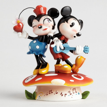 "MISS MINDY Skulptur ""Mickey & Minnie Mouse""  – Bild 1"