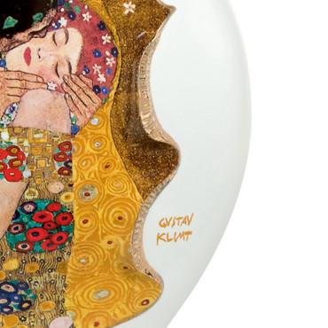 """GOEBEL PORZELLAN Gustav Klimt """"Der Kuss - Porzellanvase""""  – Bild 2"""